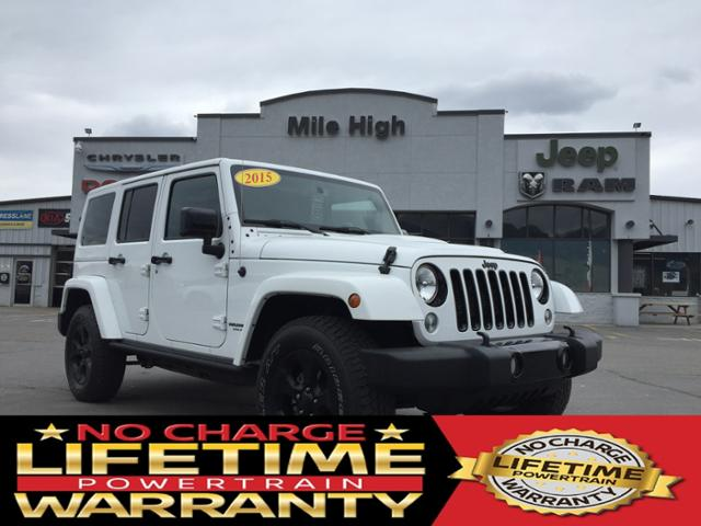 Pre-Owned 2015 Jeep Wrangler Unlimited 4WD 4dr Altitude