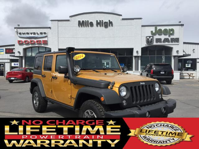 Pre-Owned 2014 Jeep Wrangler Unlimited 4WD 4dr Rubicon
